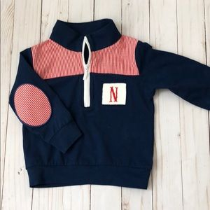 Other - Pullover zip up jacket with N smocked monogram